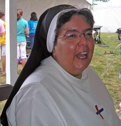 Sister at the Catholic Fest