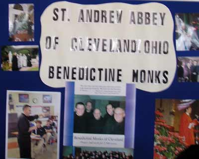 St. Andrew's Abbey Benedictine Monks Display