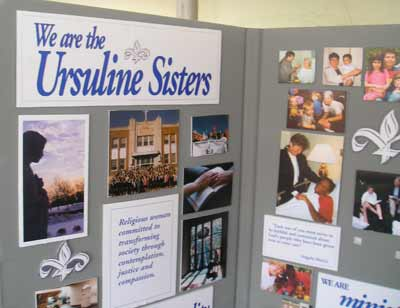 Ursuline Sisters display at The Fest
