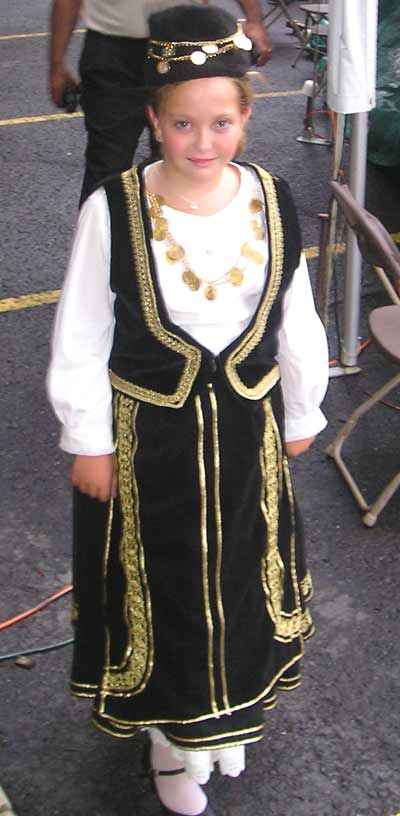 young Greek girl in costume