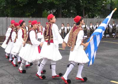 Greek teens dancing at Greek Festival