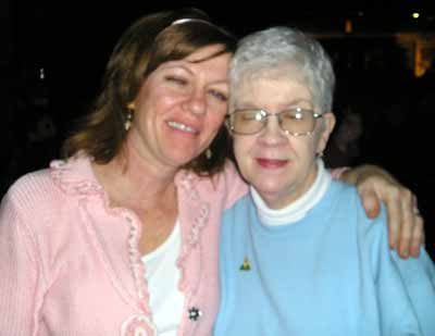 Beth Gilbert with mom Pat Hunt