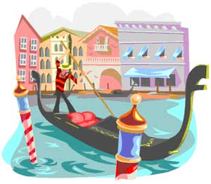 Venice Canals with gondolier