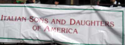 Italian Sons and Daughters of America Banner