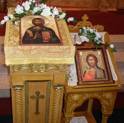 Inside Saint Sava Serbian Orthodox Cathedral in Cleveland