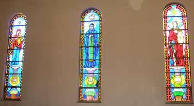 Stained glass Inside Saint Sava Serbian Orthodox Cathedral in Cleveland