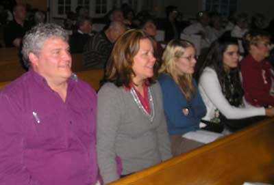 Lauren and Sue Lanphear and others watching the performance