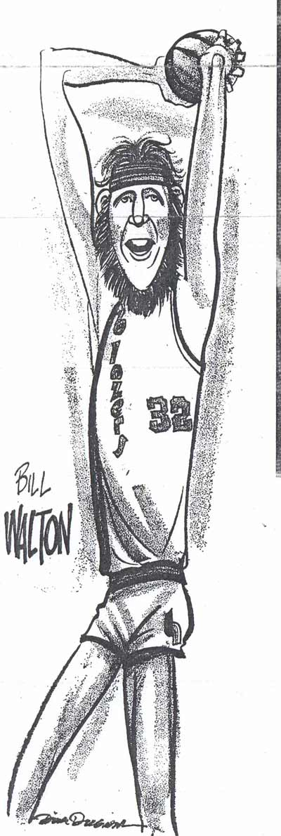 Dick Dugan draws Bill Walton