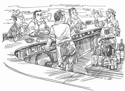 Dick Dugan bar drawing