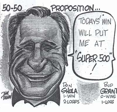 Dick Dugan draws Don Shula