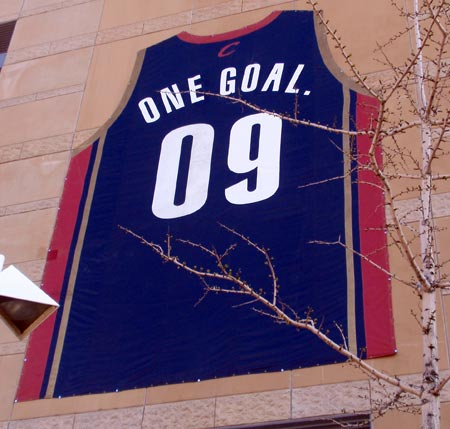 Cleveland Cavaliers One Goal 2009 playoff jersey