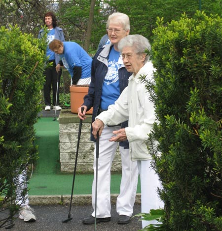 Corrine Hughes competes in Senior Olympics at age 97