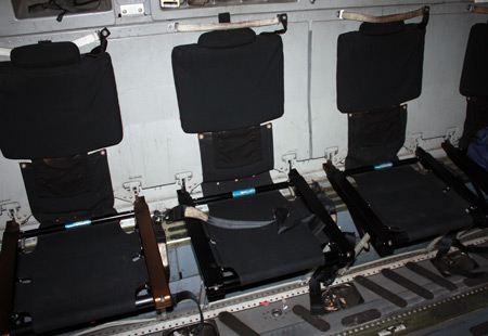 Seats Inside Air Show plane