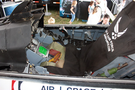 Cockpit of US Air Force plane