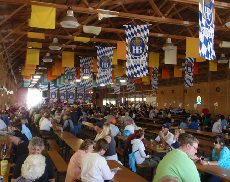 Bier Garden at 2010 Cleveland Labor Day Oktoberfest
