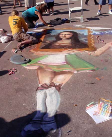 Chalk artists at Cleveland Oktoberfest