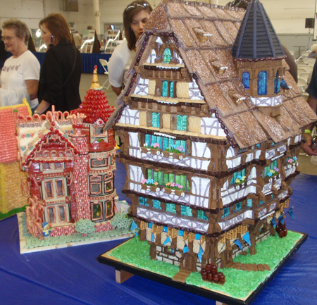 Gingerbread house at Cleveland Oktoberfest