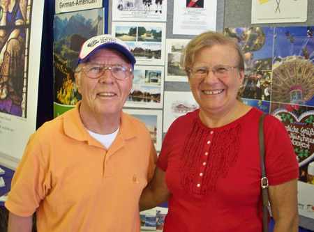 Hans Kopp and his wife showcased German cultural organizations
