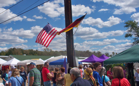 Cleveland Oktoberfest German and US flags