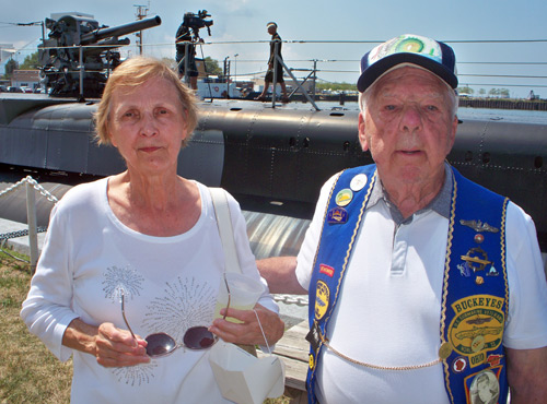 Submarine veteran Jack Paulin with his wife Marilyn