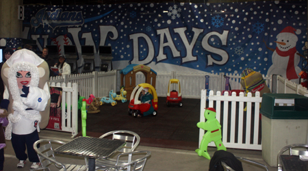 Cleveland Indians Snow Days play area