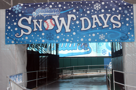 Cleveland Indians Snow Days sign