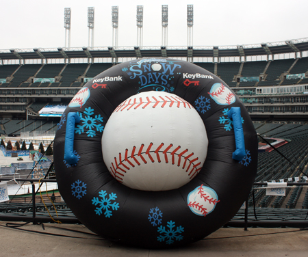 Cleveland Indians Snow Days baseball in tube