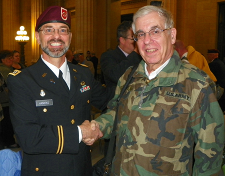 Chaplain Hankins and Lt Colonel Joe Meissner