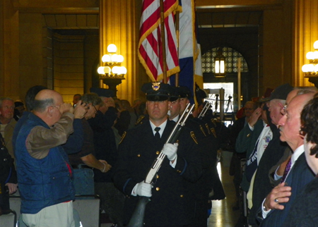 The Colors were presented by the Cleveland Department of Public Safety