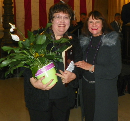 Honoree Lucky Stickan with Grace Kudukis