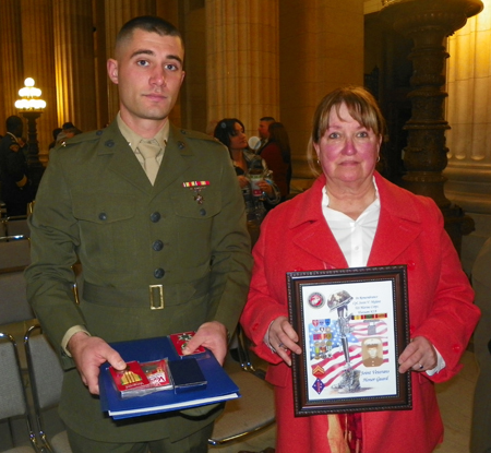 Nephew and mother of  Marine CPL Steve Victor Mylant