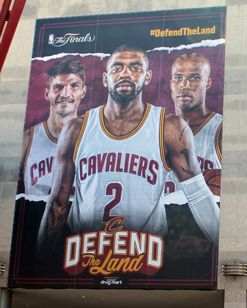 Kyrie Irving - Cleveland Cavaliers in the 2017 NBA Finals murals at Quicken Loans Arena