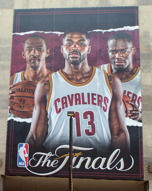 Tristan Thompson - Cleveland Cavaliers in the 2017 NBA Finals murals at Quicken Loans Arena