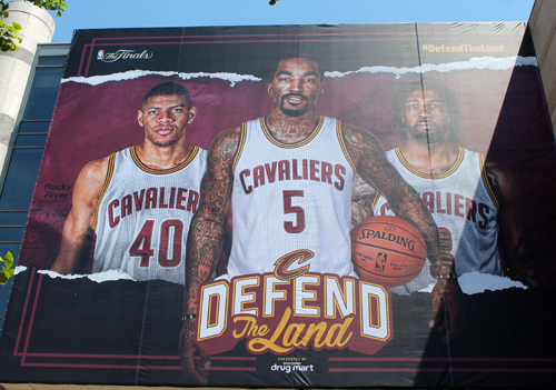 JR Smith - Cleveland Cavaliers in the 2017 NBA Finals murals at Quicken Loans Arena