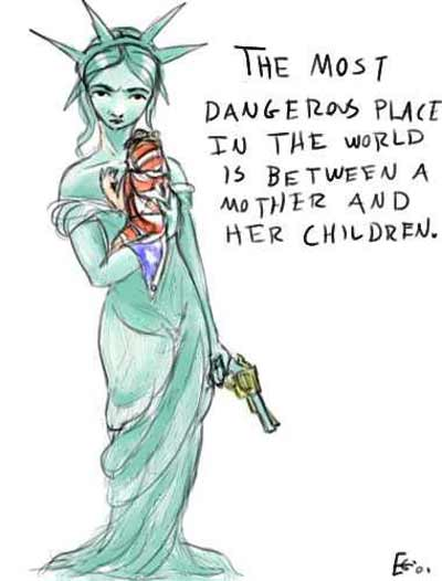 Lady Liberty drawn by By 17 year old student Eliza Gauger