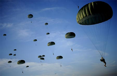 82nd Airborne at Randy Oler Memorial Operation Toy Drop at Fort Bragg, North Carolina