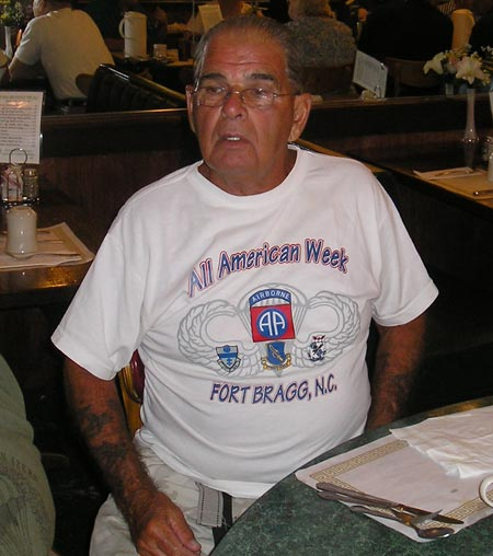 Cleveland 82nd Airborne veteran in Fort Bragg shirt