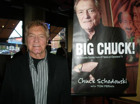 Big Chuck Schodowski at book launch signing for Big Chuck book
