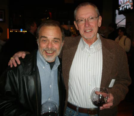 Co-author Tom Feran with John Gorman