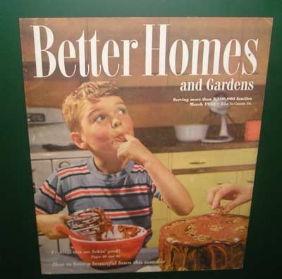 Better Homes and Garden sign at Chocolate Exhibit