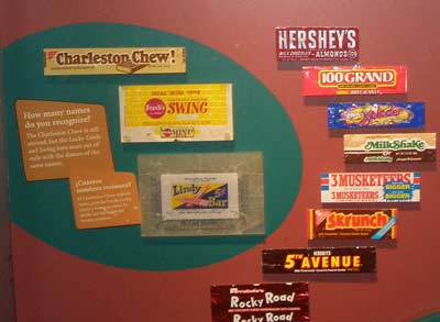 Old fashioned chocolate candy display at Chocolate Exhibit