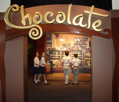 Chocolate exhibit at Great Lakes Science Center