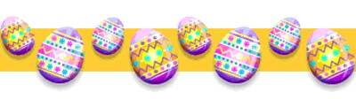 Happy Easter - Easter Egg banner