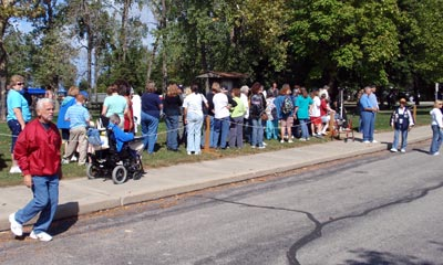In line for the Rocket Car at Euclid Beach Park