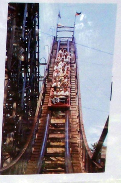 Photo of the Thriller Roller Coaster at Euclid Beach Park