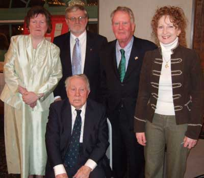 The 4 honorees with Regina Costello of Western Reserve Historical Society, Irish History Division