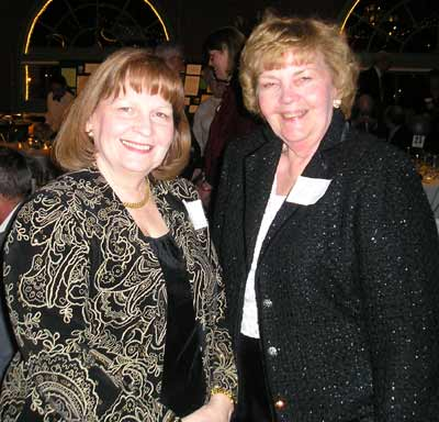 Sheila Murphy Crawford and Joan Cavanaugh, sisters and Murphy School of Irish Dance officials
