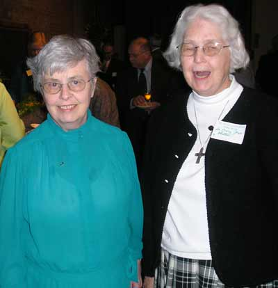 Sr. Mary Jane Olatta SND and Sr. Elizabeth Scanlon SND