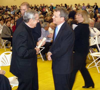 Bishop Anthony M. Pilla and Senator Mike DeWine