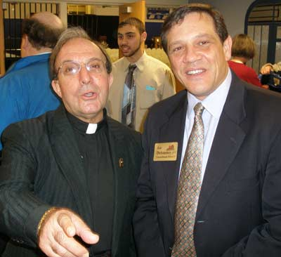 Father Anthony Fortunato and Brunswick Councilman Joe Delsanter